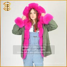 Garantie de qualité Manteau à capuche pour femme Fox Faux Fur Parka