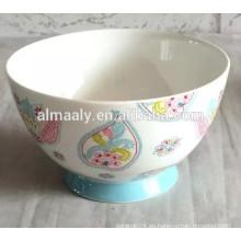 Cuenco de fideos de cerámica familiar