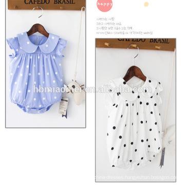 2017 Vintage Flower Printed Harem Baby Clothes Romper