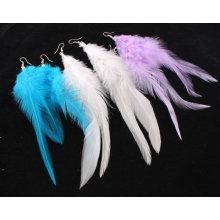 Фестиваль Custom Дешевые павлиньи перья в форме серьги