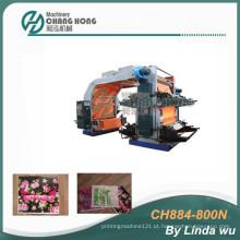 Máquina de impressão não tecida da flexão do CE 4 cores (CH884-800N)