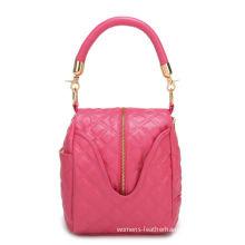 Watermelon Red Mini Pu Shoulder Tote Bag Girls For Dance , Animal Print Bag