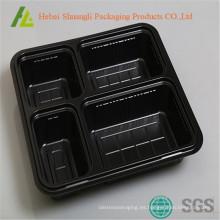 4 Compartimentos Recipientes de plástico desechables para microondas