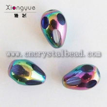 wholesale Multi-colored Raindrop Plated Crystal Bead