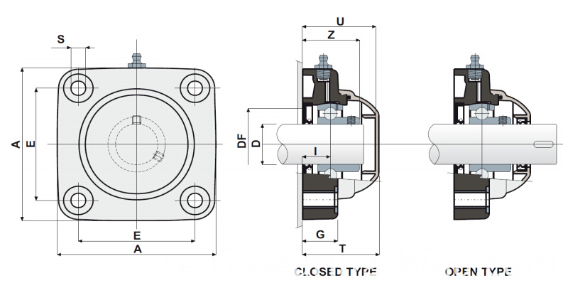 Stainless Steel Bearings WP-SBF200 Series