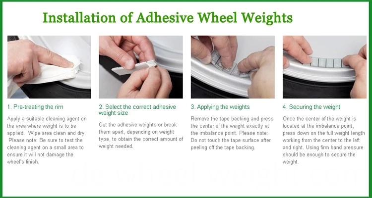 how to use adhesive weight