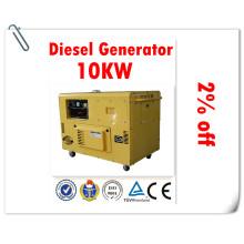 100% надежный завод генератора! ! Тихий дизельный генератор мощностью 10 кВт