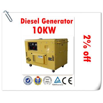 Fábrica confiável do gerador de 100%! ! Gerador diesel silencioso 10kw