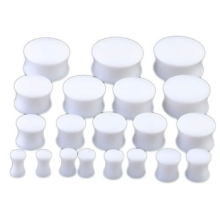 Kit d'étirement à évasement double acrylique blanc Ensemble d'étirement de l'oreille