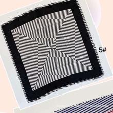 primavera e verão mulheres profissionais imprimem lenços de seda