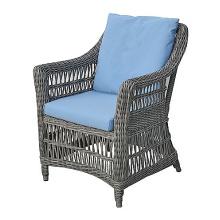 Сад смолы плетеная ротанг столовая мебель патио кресло