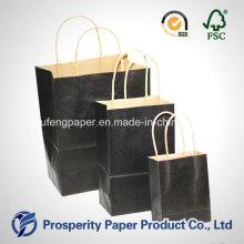 Bolsa de papel Kraft preto