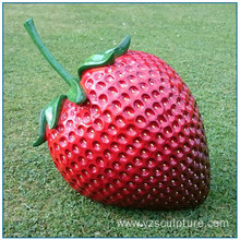 Outdoor Fruit Large Fiberglass Strawberry Statue