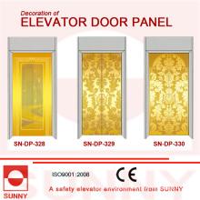 Aguafuerte Panel de la puerta del acero inoxidable para la decoración de la cabina del elevador (SN-DP-328)