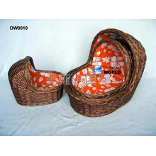 (BC-BA1006) High Quality Handmade Willow Carry & Sleep Baby Basket