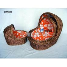(BC-BA1006) Salgueiro Handmade de alta qualidade Carry & Sleep Baby Basket