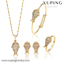 62848-Xuping Copper Alloy Best Gold Design Baby Jewellery Set