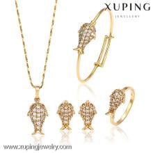 62848-Xuping liga de cobre melhor ouro Design Baby Jewelery Set