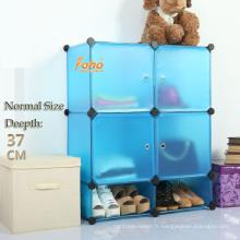 Cbinet de stockage bricolage en plastique bleu avec beaucoup de couleurs disponibles (FH-AL0518-4)