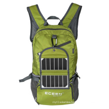 Solar backpack, made by polyester, can be customized solar backpack manufacturer