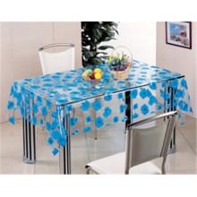 Padrão impresso e material de PVC, Oilproof, impermeável recurso toalha de mesa transparente