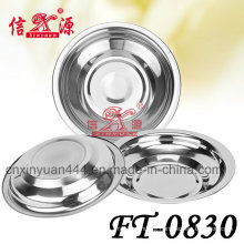 Stainless Steel Round Deep Tray (FT-0830)