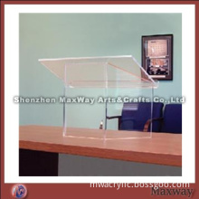 Elegant Standard Large Top Desk Clear Plexiglass Dais/Pulpit
