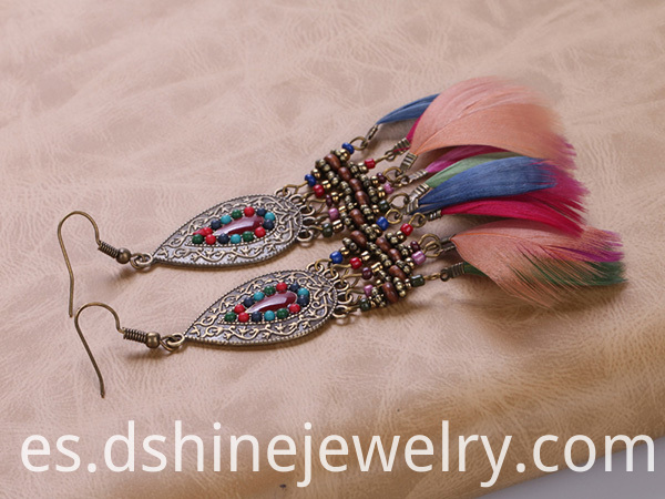 Feather Indian Earring Jewellery