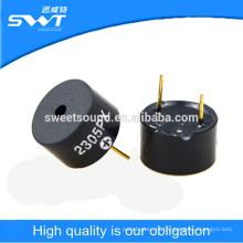 12 * 7,5 mm pin tipo auto frive zumbador piezoeléctrico del transductor 5v buzzer activo