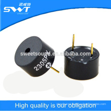 12*7.5mm pin type self frive piezoelectric transducer buzzer 5v active buzzer