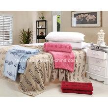Whosaler Cobertor de lã de coral barato com sensação de mão super macia