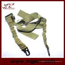 Tactique deux Point corde sangle crochet ceinture fusil Sling pour Airsoft