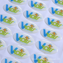 Custom Logo Adhesive epoxy resin label Full Color epoxy resin stickers