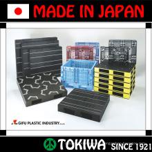 Variedad de palets con alta calidad y peso ligero por Gifu Plastic Industry. Fabricado en Japón (palet de plástico reforzado con acero)