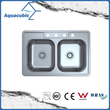 Above Counter Stainless Steel Moduled Kitchen Sink (ACS 3322M)