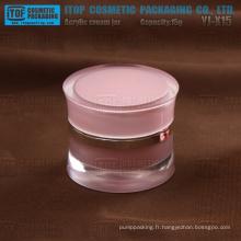 YJ-X15 15 g élégant et noble 1er grade g 15 plastique acrylique double paroi jar