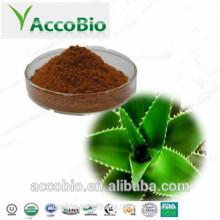 Aloe Vera-Extrakt-Pulver 10% 20% Aloin des kosmetischen Grades für das Haut-Weiß werden