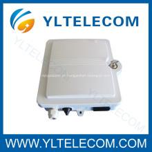 12 caixa núcleo FTTH exterior terminais de fibra óptica com trava