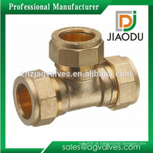 10 mm ou 15 mm ou 22 mm ou 28 mm latão de compressão iguais Tee
