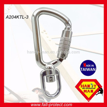 A204-KTL Swivel Aluminum Safety Hook Carabiner with Triple Rod