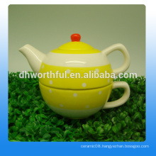 Decorative ceramic combined teapot cup in one for sale
