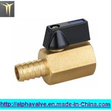 Válvula de bola de latón mini para el agua