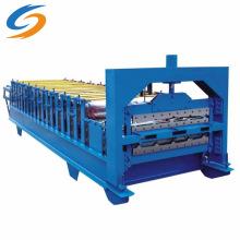 Máquina formadora de rolos de chapa de telhado de dupla camada de aço