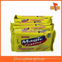 Bolso de empaquetado plástico de encargo de los bocados para la galleta de la galleta de la galleta hecha en guangzhou
