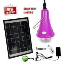 Portátil mini solares luz kits, led mini lâmpada de luz solar, mini sistema solar