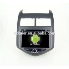 Android 4.4 Miroir-lien TPMS DVR 1080P quad core voiture dvd avec gps pour Chevrolet AVEO Bluetooth / TV / 3G