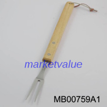 Hot sale wood handle stainless steel bbq fork