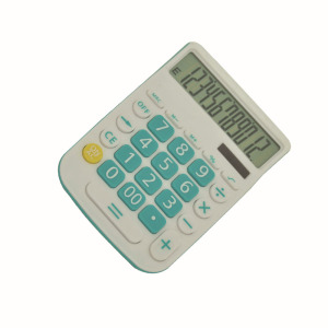 12 Digits Two Way Power Office Desktop Calculator