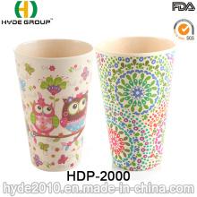 Taza de fibra de bambú respetuosa del medio ambiente de moda modificada para requisitos particulares (HDP-2000)