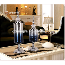 European- luxurious neo-classical model of post-modern TV cabinet glass ornaments soft home furnishings